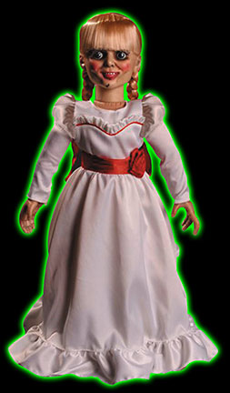 the conjuring annabelle 18 inch prop replica doll